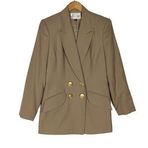 Vintage Le Suit tan sport coat blazer suit jacket